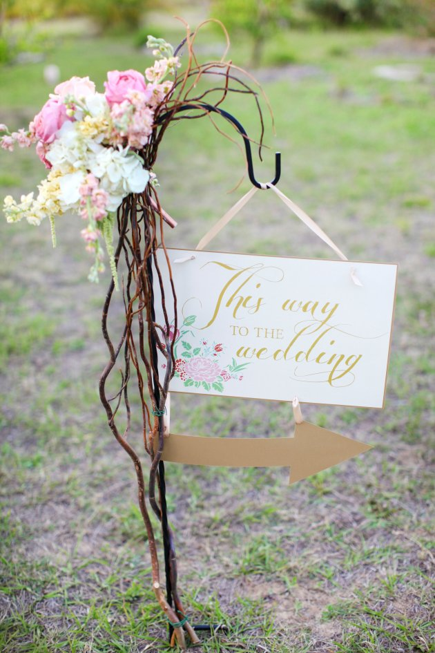 Wings of Glory Photography, Dogwood Blossom Stationery, Orlando Weddings, ceremony sign