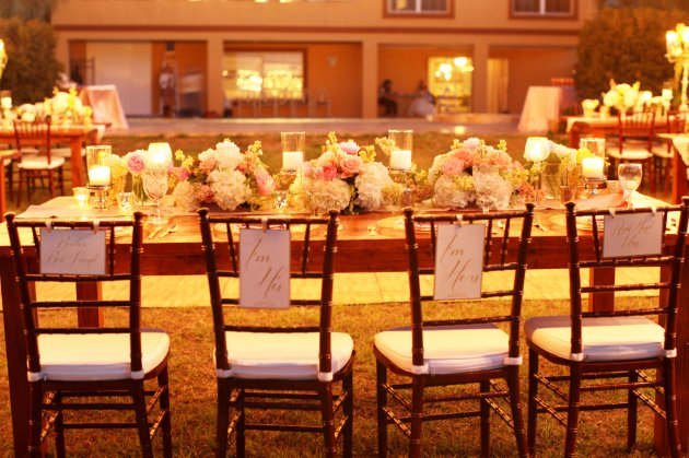 Wings of Glory Photography, Dogwood Blossom Stationery, Orlando Weddings, chair back signs