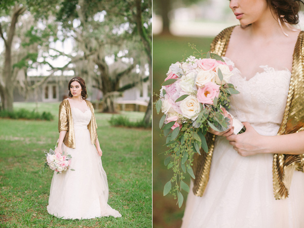 Kati Rosado Photography, Dogwood Blossom Stationery, Orlando Weddings, bride with bouquet