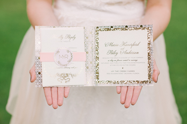 Kati Rosado Photography, Dogwood Blossom Stationery, Orlando Weddings, blush invitations