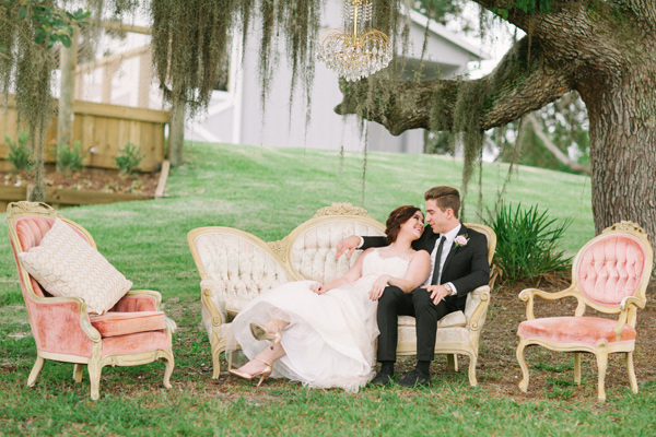 Kati Rosado Photography, Dogwood Blossom Stationery, Orlando Weddings, vintage furniture