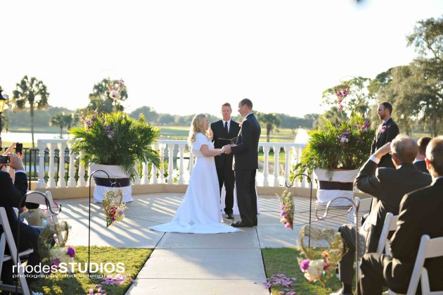 Rhodes Studios, Dogwood Blossom Stationery, Orlando weddings, ceremony
