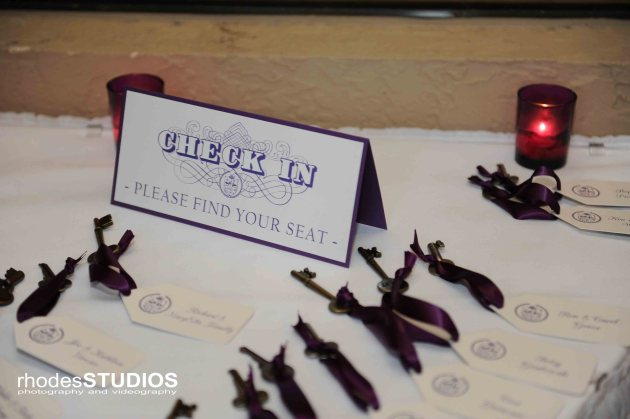 Rhodes Studios, Dogwood Blossom Stationery, Orlando weddings, check in