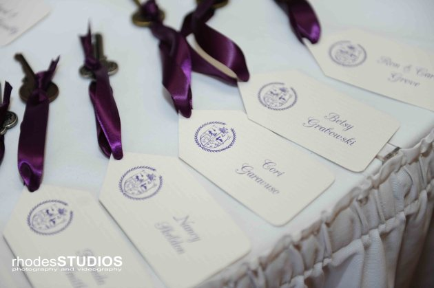 Rhodes Studios, Dogwood Blossom Stationery, Orlando weddings, escort cards
