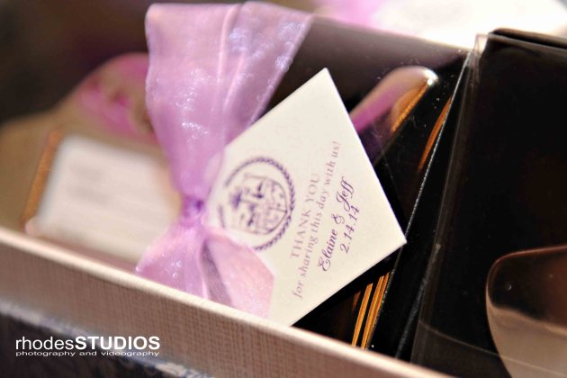 Rhodes Studios, Dogwood Blossom Stationery, Orlando weddings, favor tags