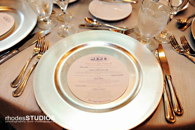 Rhodes Studios, Dogwood Blossom Stationery, Orlando weddings, menu