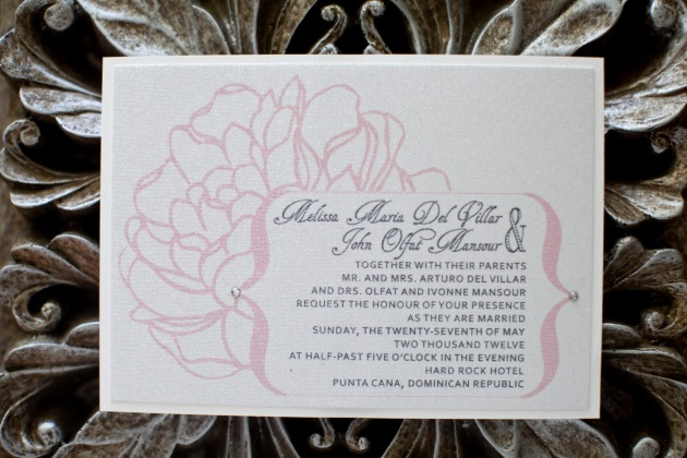 Sara Kauss Photography, Dogwood Blossom Stationery, Orlando weddings, invitation
