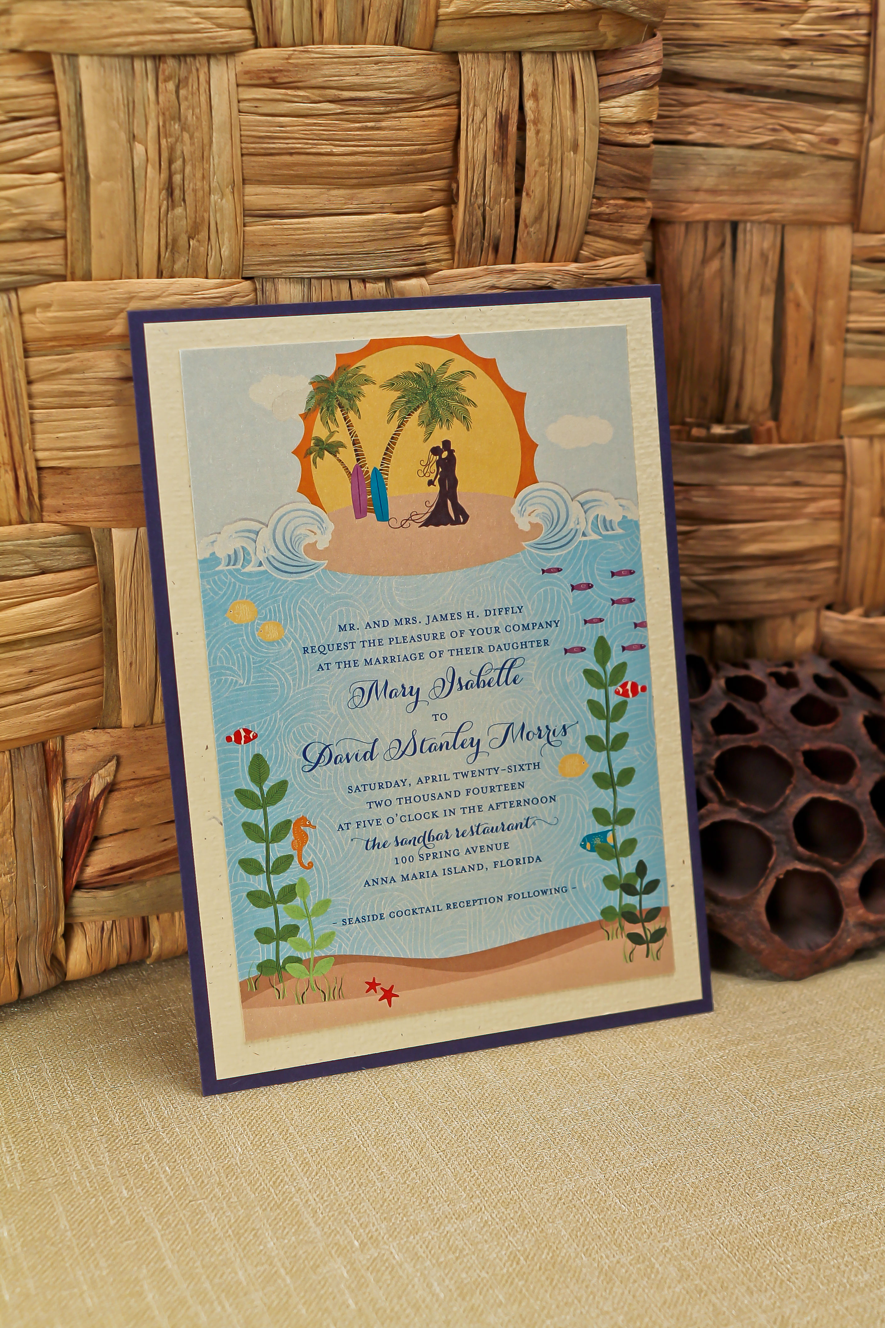 Isabelle And Davids Whimsical Tropical Wedding