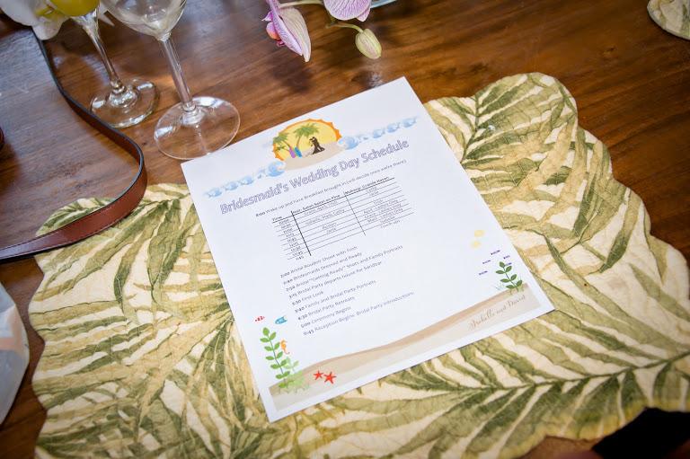 Island Photography, Dogwood Blossom Stationery, Orlando weddings, agenda