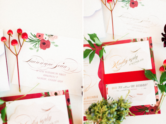 Andi Mans Photography, Dogwood Blossom Stationery, Orlando weddings, invitation close up