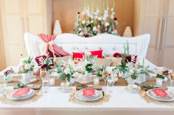 Andi Mans Photography, Dogwood Blossom Stationery, Orlando weddings, table setting