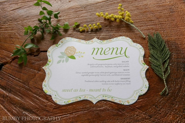 Dogwood Blossom Stationery, Bumby Photography, Ocoee Lakeshore Center, Menu