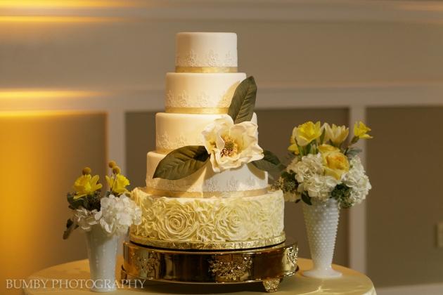 Dogwood Blossom Stationery, Bumby Photography, Ocoee Lakeshore Center, Wedding Cake