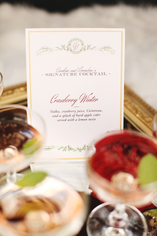 Cocktail Sign, Dogwood Blossom Stationery, Holiday Shoot, The Acre, Vine and Light Photography