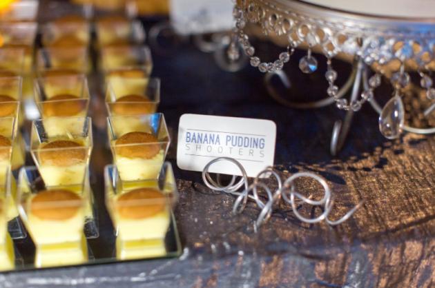 Thompson Photography Group, Orlando Science Center, Dogwood Blossom Stationery, Orlando weddings, blue wedding, dessert buffet tags