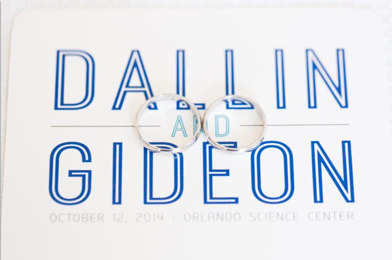 Thompson Photography Group, Orlando Science Center, Dogwood Blossom Stationery, Orlando weddings, blue wedding, rings