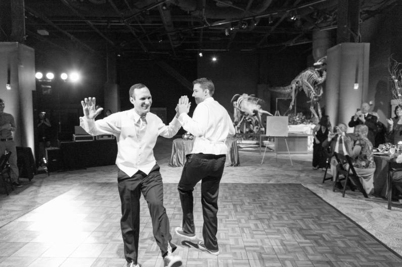 Thompson Photography Group, Orlando Science Center, Dogwood Blossom Stationery, Orlando weddings, blue wedding, wedding dance