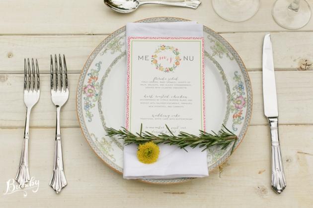 Bumby Photography, Peachtree House, Dogwood Blossom Stationery, Orlando weddings, menu, orange wedding