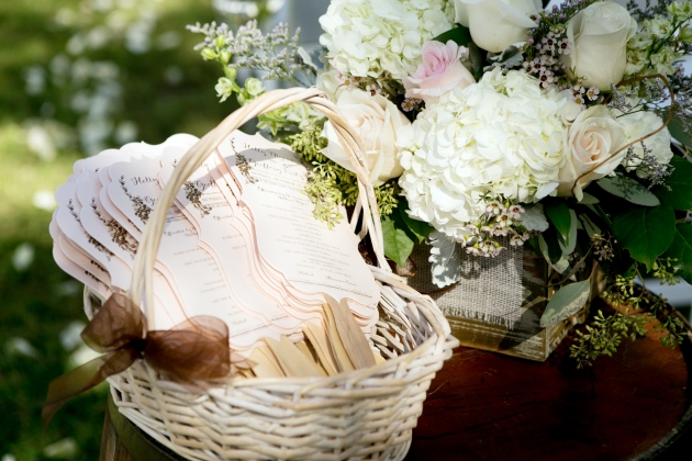 Henk Prinsloo Photography, Up the Creek Farms, Dogwood Blossom Stationery, blush and brown, custom fan programs