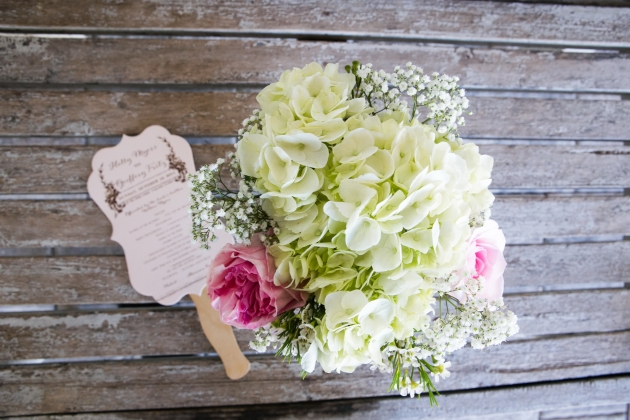 Henk Prinsloo Photography, Up the Creek Farms, Dogwood Blossom Stationery, Orlando weddings, ceremony program fan and flowers