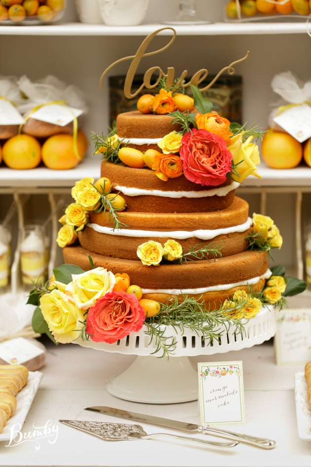 Bumby Photography, Peachtree House, Dogwood Blossom Stationery, Orlando weddings, citrus wedding cake, orange and yellow wedding ideas