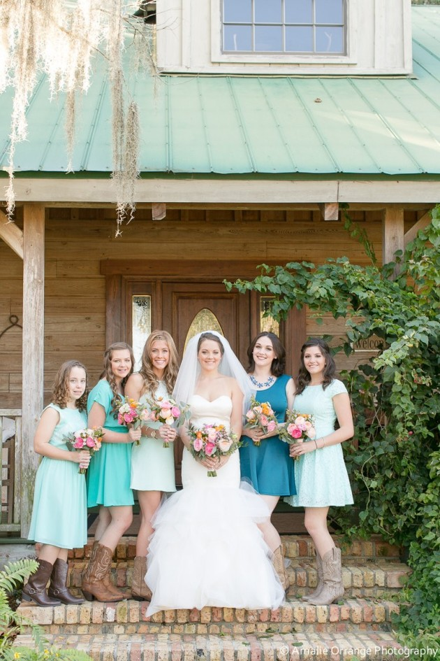 Bridal Party, Amalie Orrange Photography, Isola Farms, Dogwood Blossom Stationery and Invitation Studio