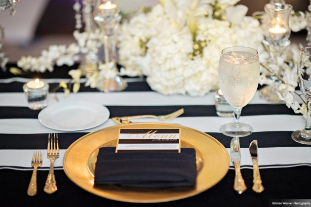 Dogwood Blossom, Kristen Weaver, Bride and Groom, Black White and Gold Menus, Modern Wedding. jpg