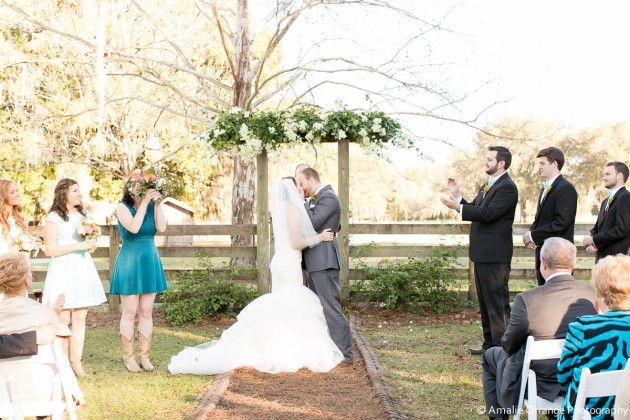 Outdoor Ceremony, Amalie Orrange Photography, Isola Farms, Dogwood Blossom Stationery and Invitation Studio