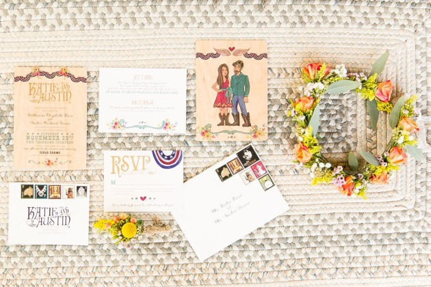 Wood Invitations, Country Themed Wedding, Amalie Orrange Photography, Isola Farms, Dogwood Blossom Stationery and Invitation Studio