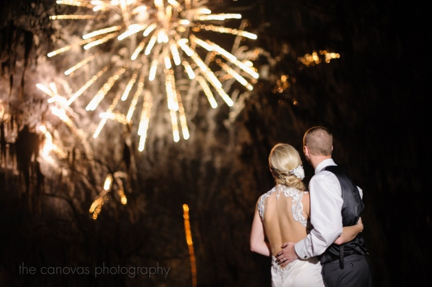 The Canovas Photography, Dogwood Blossom Stationery, Cypress Grove Estate House, wedding fireworks