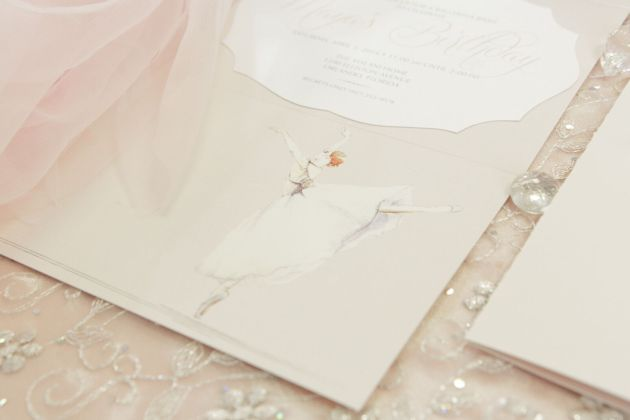 Custom Invitations, Ballerina, Ballerina Birthday Inspiration, Bumby Photography, Dogwood Blossom Stationery Event