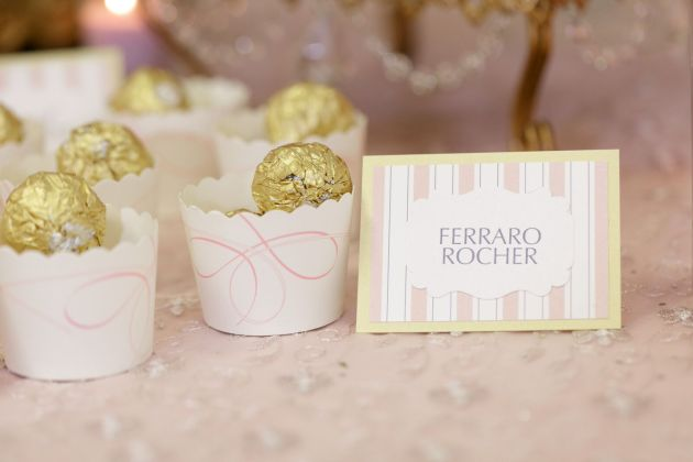 Dessert Signs, Ferraro Rocher, Ballerina Birthday Inspiration, Bumby Photography, Dogwood Blossom Stationery Event