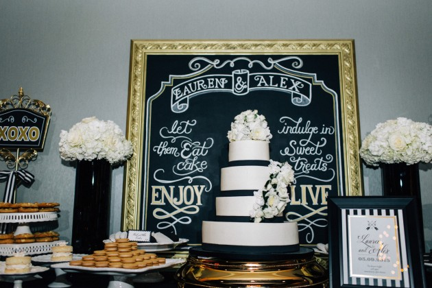 Dessert Signs, Milk Dessert Bar, Black and Gold Wedding, The Hons Photography, Omni Orlando Resort at ChampionsGate, Dogwood Blossom Stationery Event