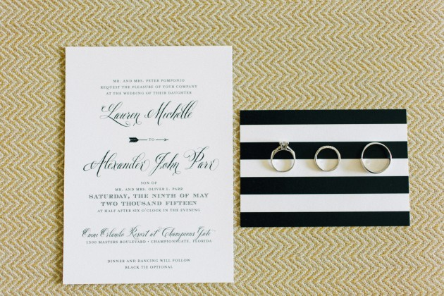 RSVP, Invitations, Black and Gold Wedding, The Hons Photography, Omni Orlando Resort at ChampionsGate, Dogwood Blossom Stationery Event