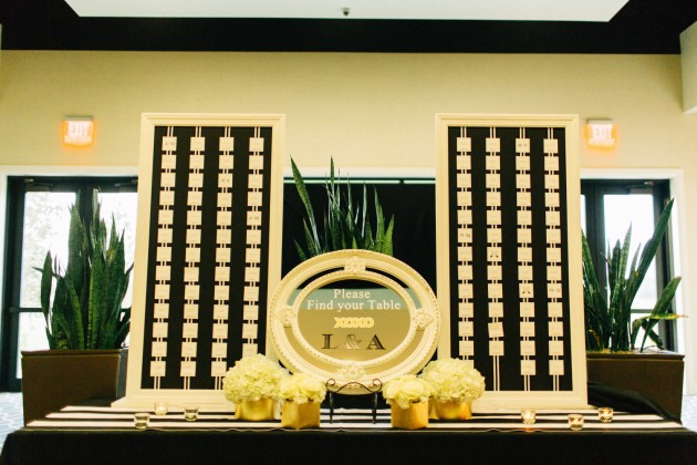 Seating Chart, Black and Gold Wedding, Mirror Sign, The Hons Photography, Omni Orlando Resort at ChampionsGate, Dogwood Blossom Stationery Event