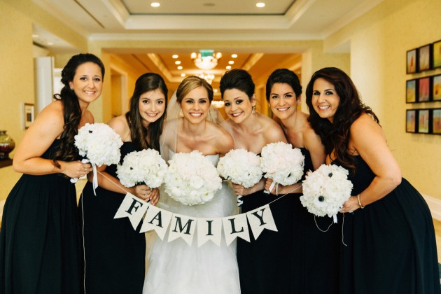 Signage, Bridal Party, White Floral, Black and Gold Wedding, The Hons Photography, Omni Orlando Resort at ChampionsGate, Dogwood Blossom Stationery Event