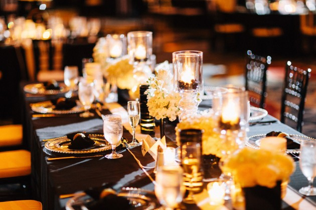 White Floral, Black and White Linens, Black and Gold Wedding, The Hons Photography, Omni Orlando Resort at ChampionsGate, Dogwood Blossom Stationery Event