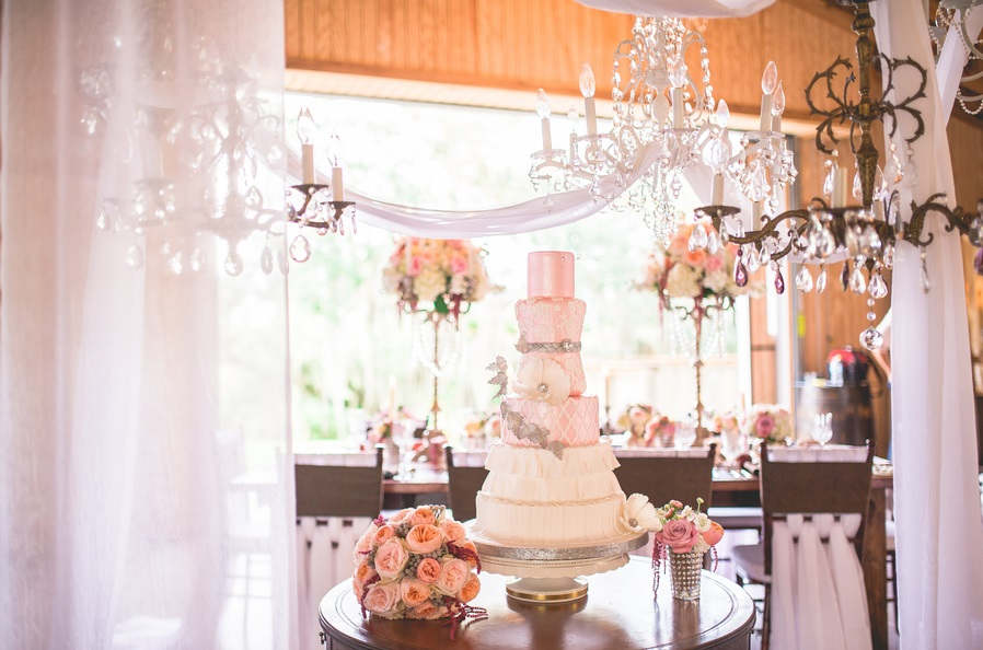 Up-the-Creek-Farms-Claire-Pacelli-Photography-Everything-Cake-Movie-Inspirations-Pink-Wedding-Ideas-Dogwood-Blossom-Stationery-Event
