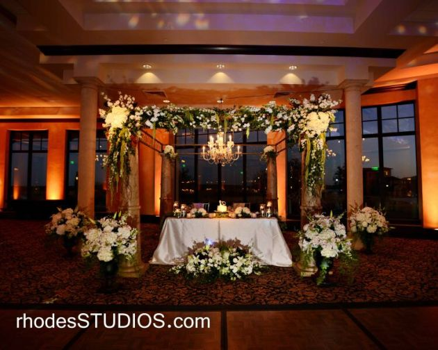 Floral arch - sweetheart table