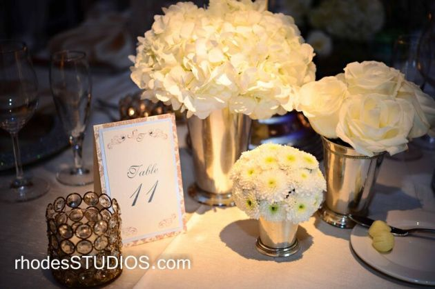 Taupe and brown table numbers
