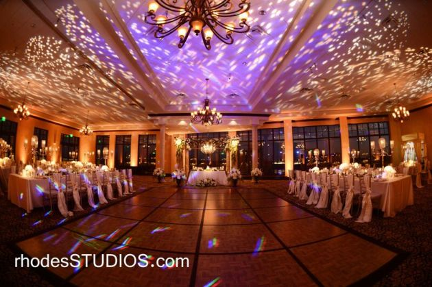 Wedding lighting over dance floor